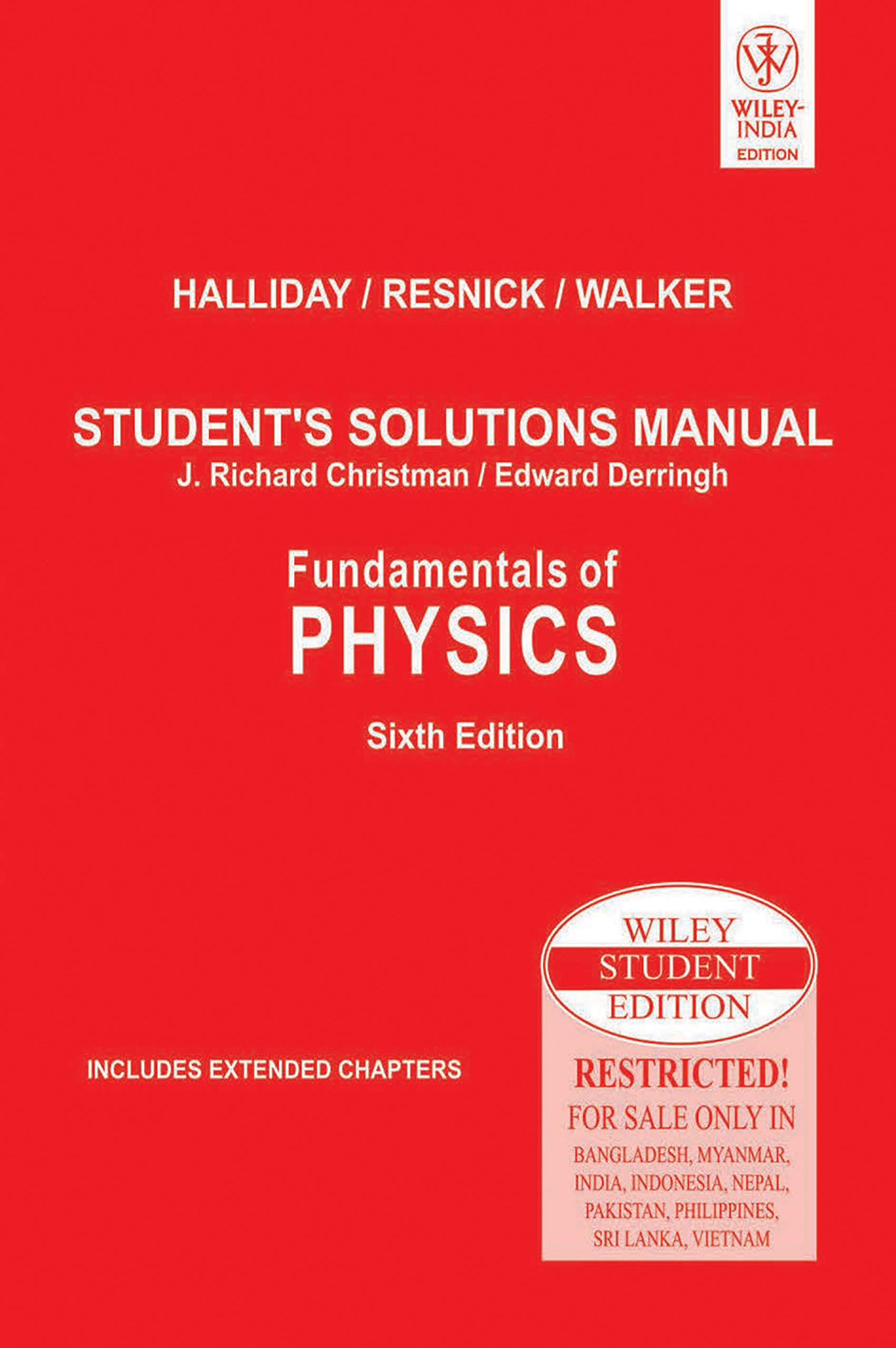 Buy Fundamentals of Physics, Student's Solutions Manual Book Online at Low  Prices in India | Fundamentals of Physics, Student's Solutions Manual  Reviews ...
