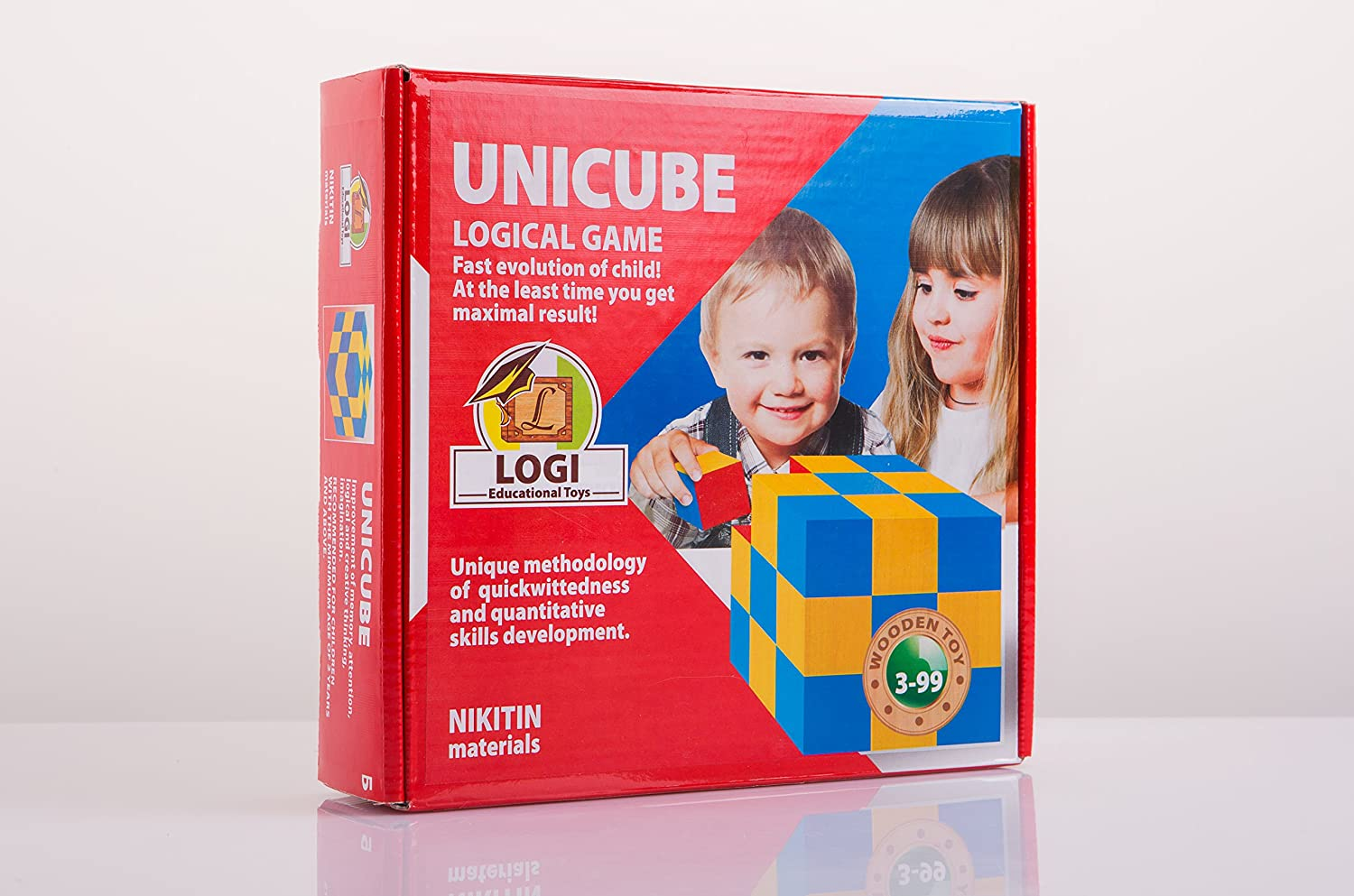 Wooden cubes UNICUBE learning toys training kids imrove three-dimensional space thinking pattern blocks help to reveal abilities wooden educational toys by Nikitin