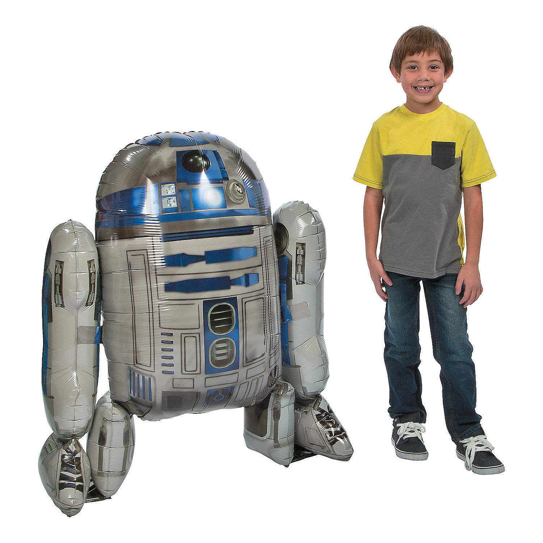 1 X Star Wars R2D2 AirWalker Foil Balloon by Anagram