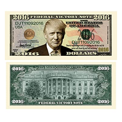 American Art Classics Pack of 10 - Donald Trump 2016 Federal Victory Presidential Limited Edition Dollar Bill: Toys & Games