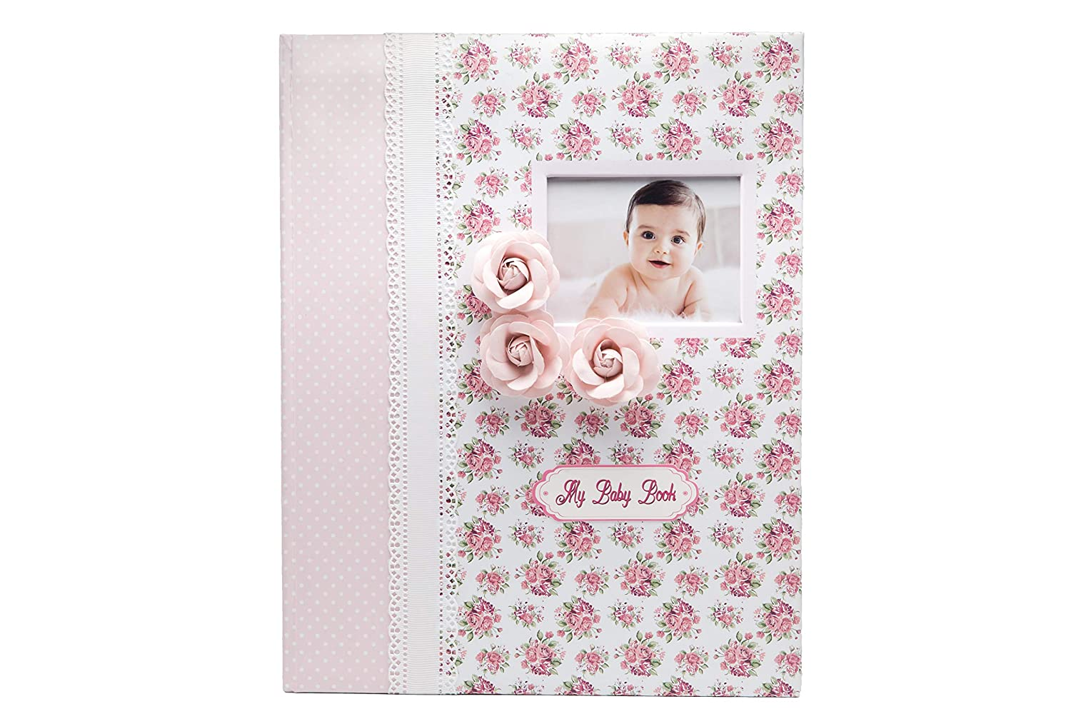 Baby Memory Book – Milestone Journal for Babies – Classic Design for Baby Girl – First 5 Years Scrapbook & Photo Album – Ideal Baby Shower and Mother's Birthday Gift Set All Memories