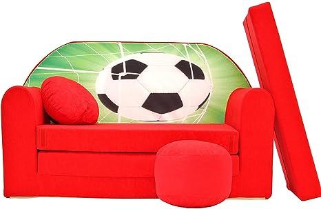 Letto Futon Bimbi : Pro cosmo d divano letto futon con pouf poggiapiedi cuscino in