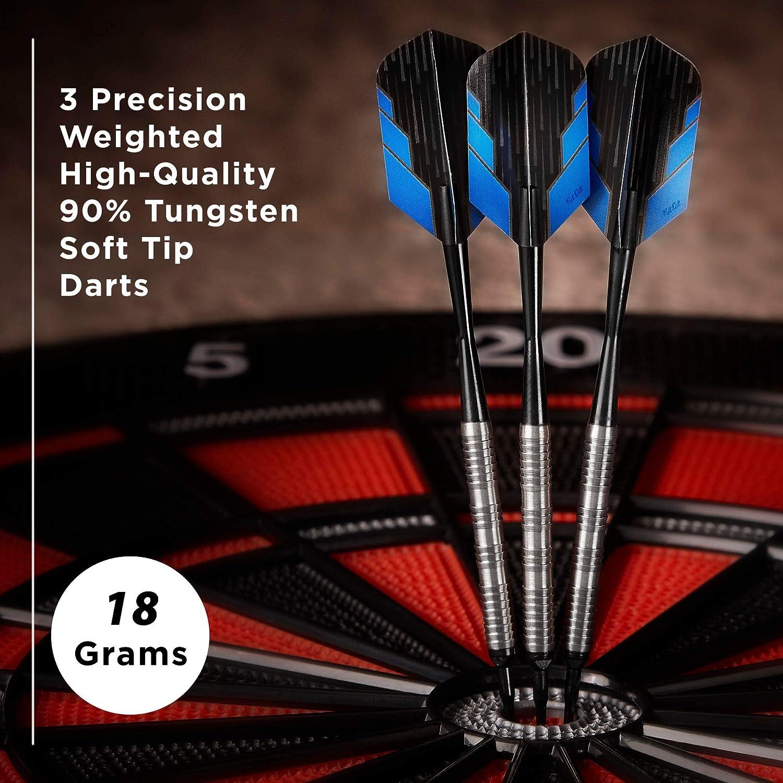 Fat Cat Bulletz 90/% Tungsten Soft Tip Dart Set with Case 18 Grams Free Sh New