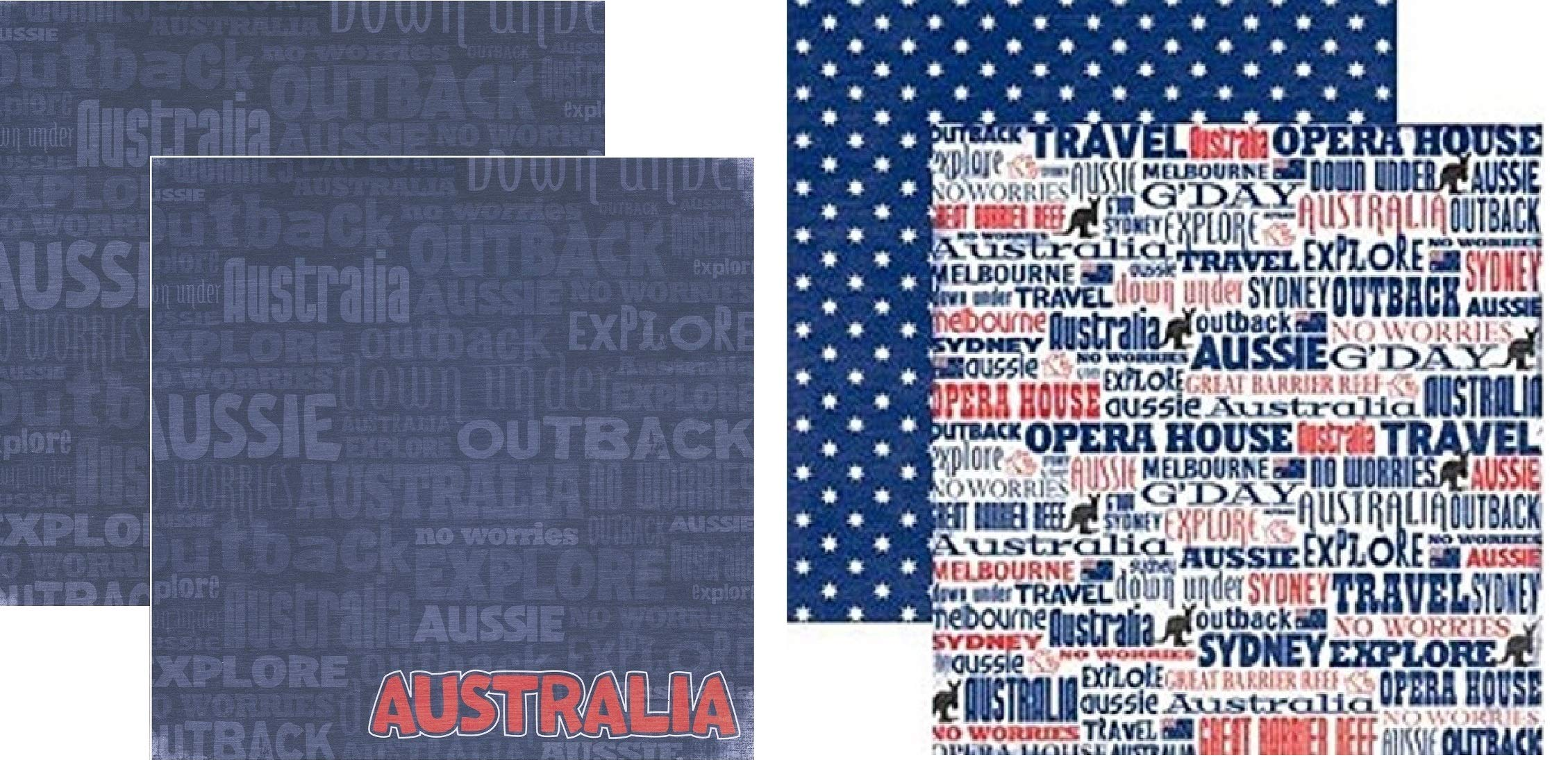 Australia 12x12 Scrapbook Papers Set by Reminisce - 2pcs