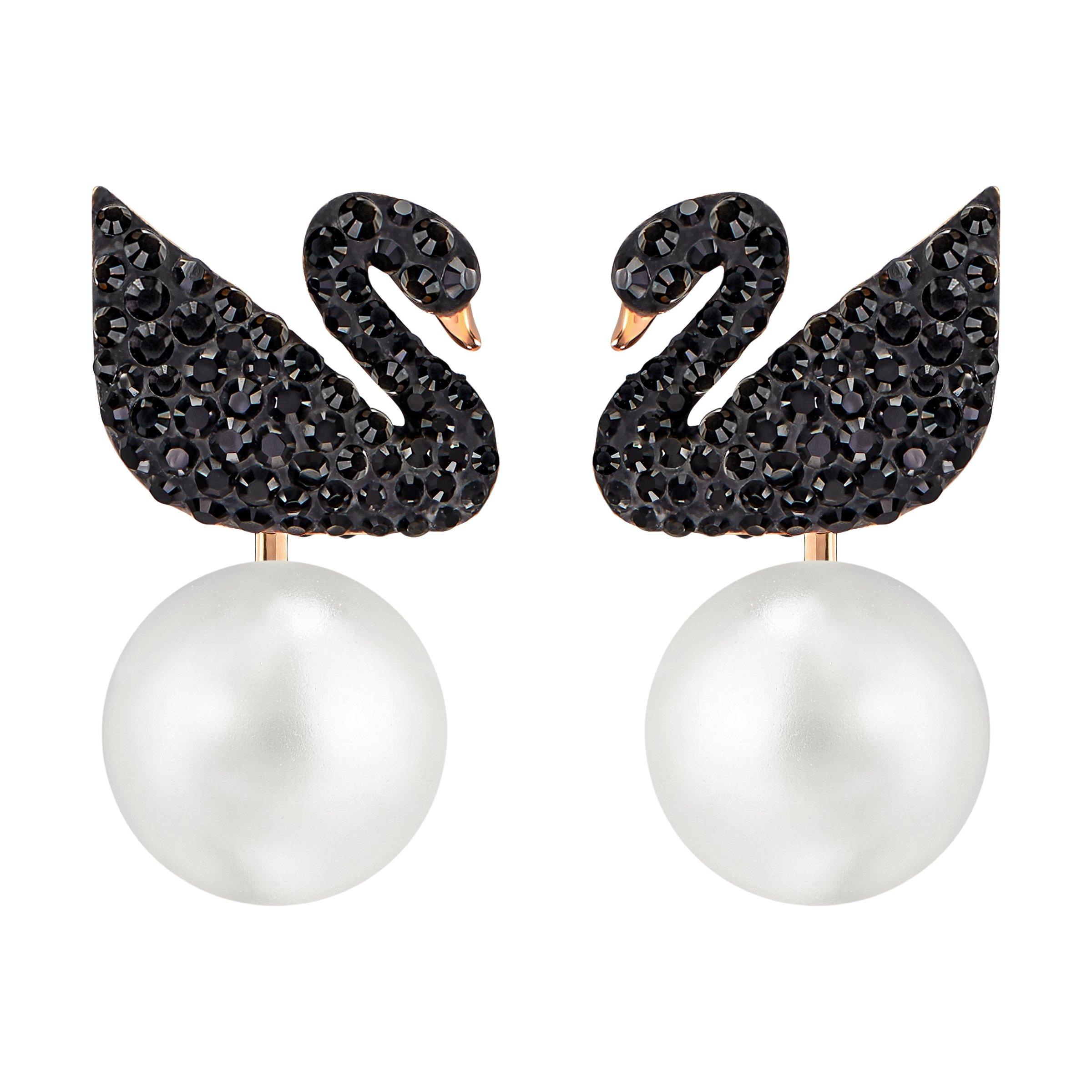 Swarovski Iconic Swan Earrings - 5193949 by SWAROVSKI