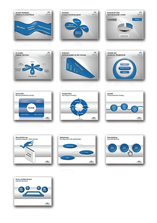 1000 Folien - 3D PowerPoint Vorlagen - Farbe: exact.blue (2017 ...