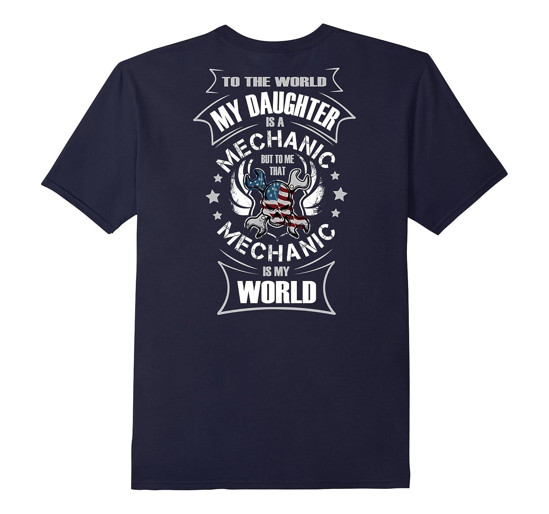 Auto Mechanics Gifts Daughter Girl Auto Mechanic Is My World-TH