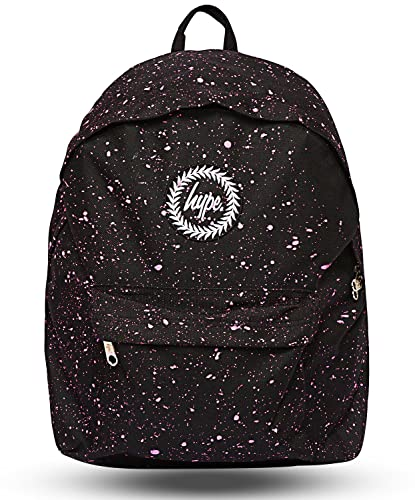 480a947ed4 Hype Backpack Bags Rucksack - Backpack - Ideal School Bag with Unique  styling - Black Pink Speckle  Amazon.co.uk  Luggage