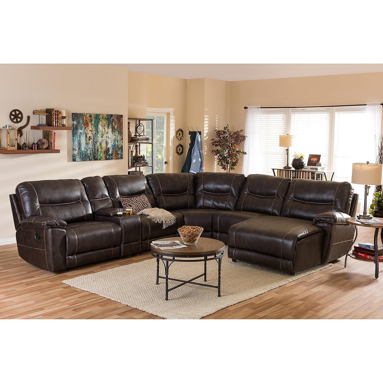 Amazon.com: Baxton Studio Mistral 6-Piece Seccionales Lounge ...