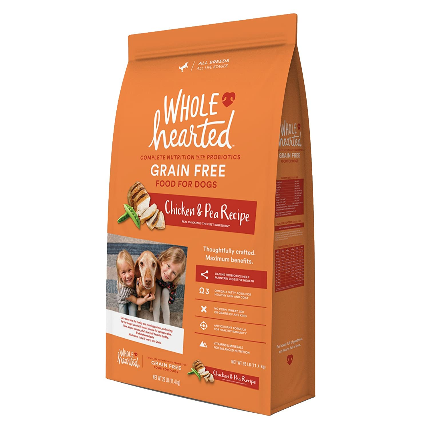 Amazon wholehearted grain free all life stages chicken pea amazon wholehearted grain free all life stages chicken pea recipe dry dog food 25 lbs pet supplies forumfinder Gallery