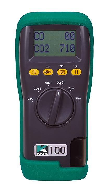 Kane 100-1 calidad del aire en interiores CO y CO2 analizador de gases de