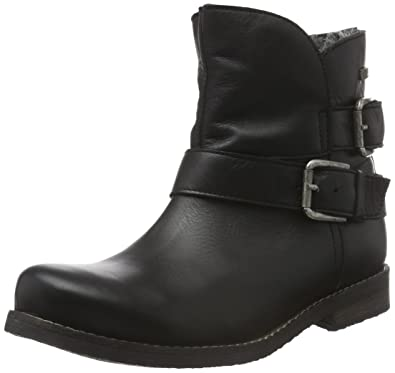 c14b501db059 Buffalo London Damen ES 30524L Garda Biker Boots, Schwarz (Preto 01), 38
