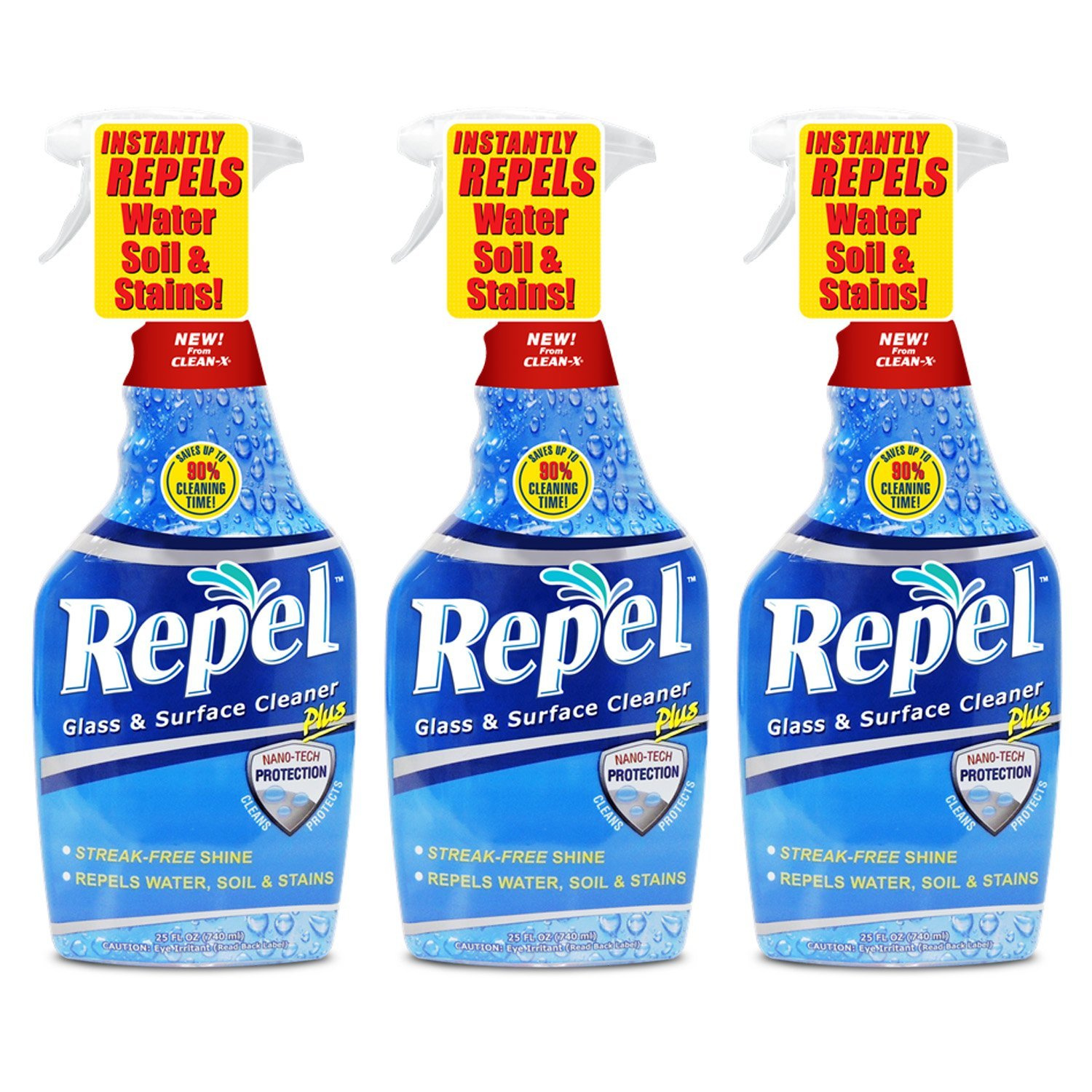 Repel Glass & Surface Cleaner - 3 pack