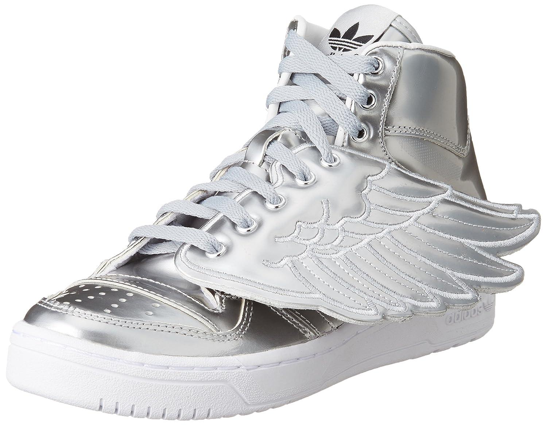 Adidas Unisex-Erwachsene JS Wings Metal Hightop Turnschuhe Silberfarben 46 EU