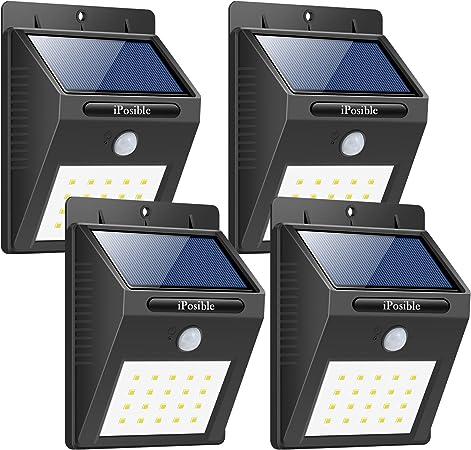 Foco Solar 20 LED Luces Solares Lámparas Solares Luz solar Jardín - 4 Paquetes: Amazon.es: Hogar