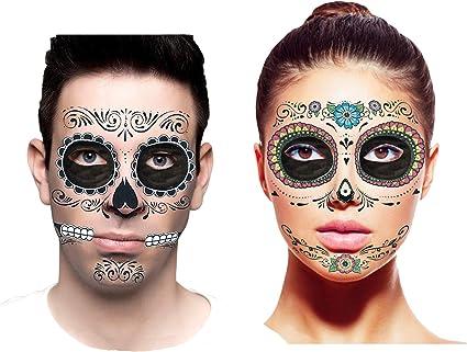 Mexican Day Of The Dead Wig Black Long Beehive Flowers Halloween Fancy Dress
