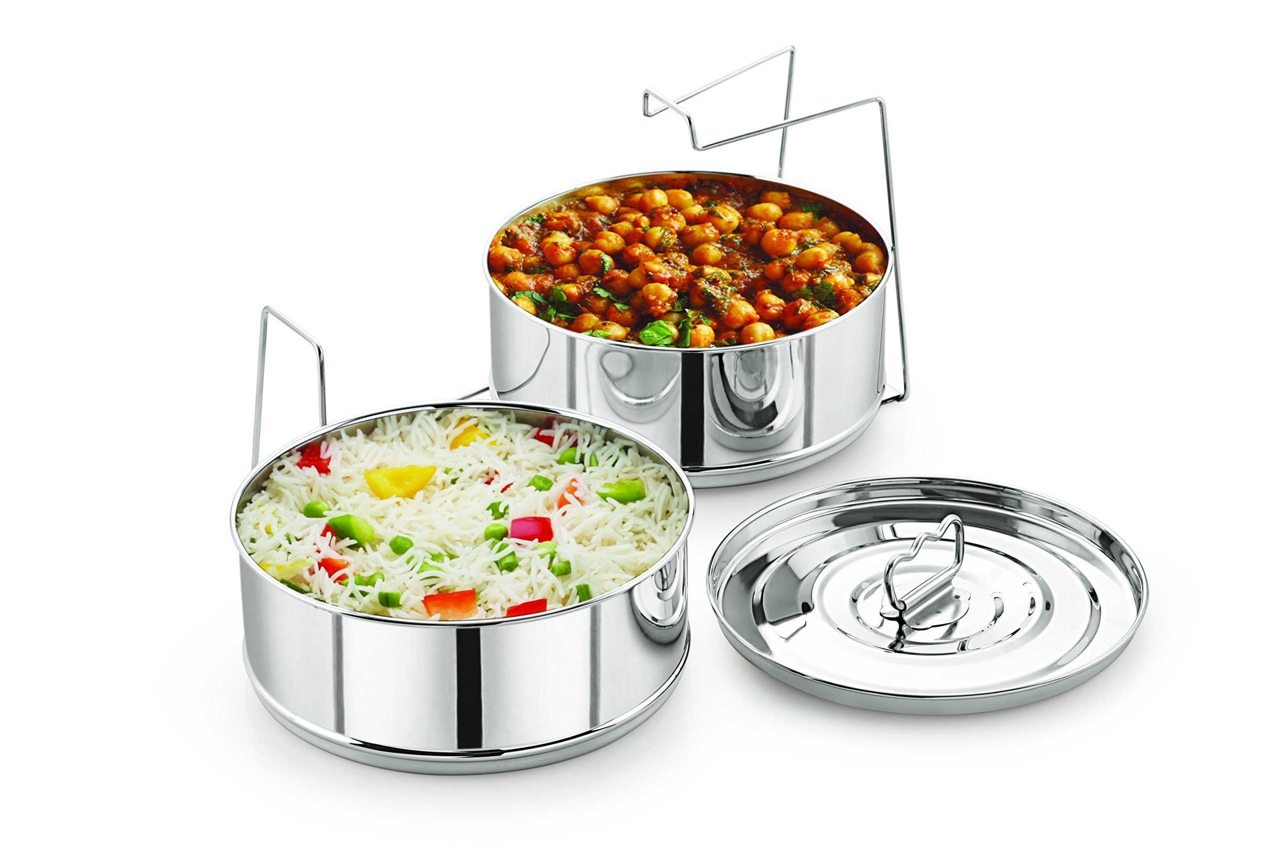 Stackable Stainless Steel Insert Pans - Inserts for Instant Pot - Pan for Instapot - FITS 6 Quarts and Above size - Pressure Cooker Steamer Pan - Single Size Stackable Insert Pans by LNM Steamer Cooker Pans