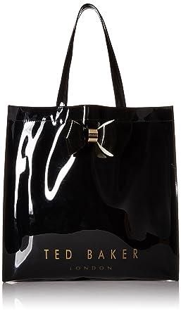 267915118f Ted Baker 'Sumacon' plain bow large icon bag black: Amazon.co.uk ...