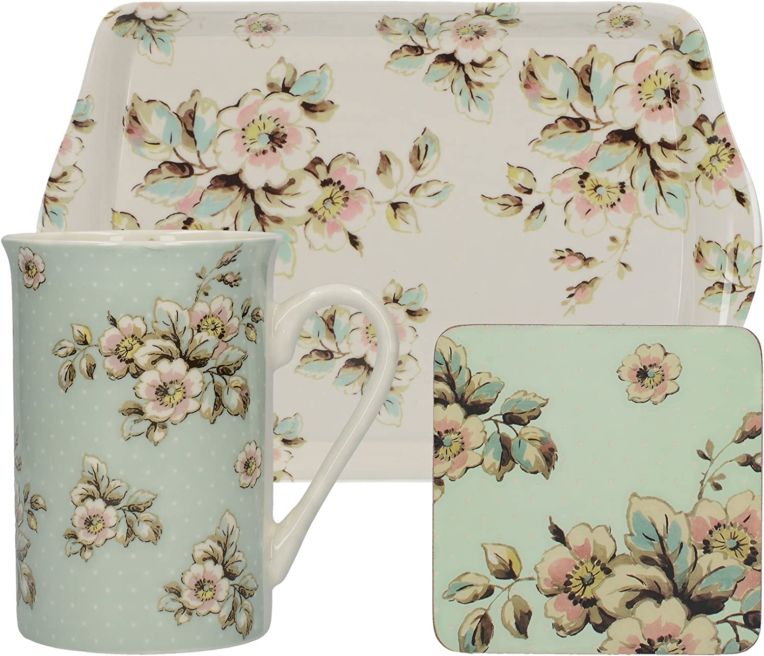 """Katie Alice /""""English Garden/"""" Tall Porcelain Jug by Creative Tops 1200 ml 2 Pints"""