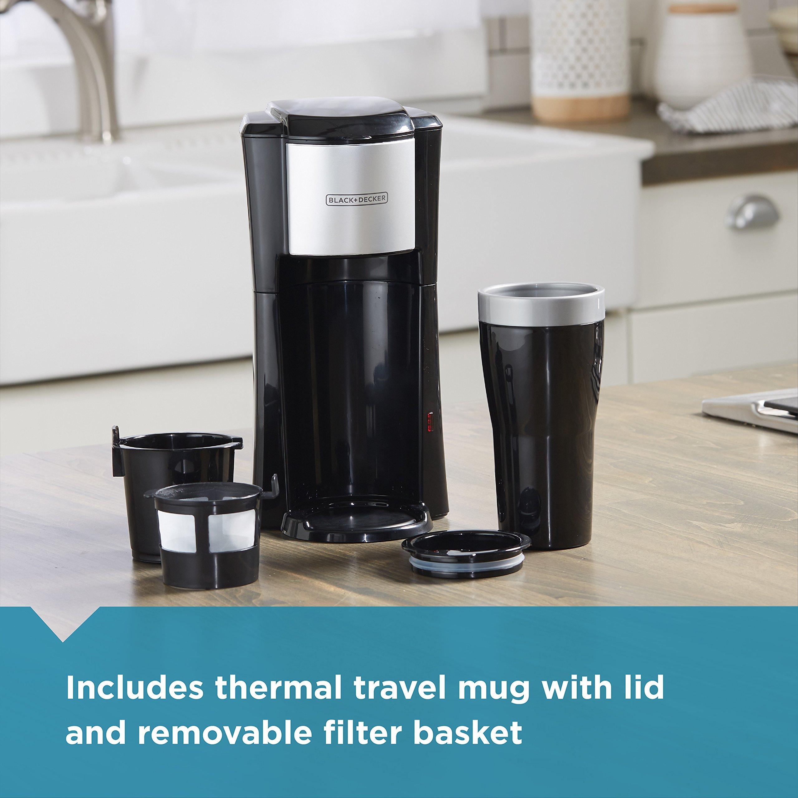 BLACK+DECKER Single Serve Coffeemaker, Black, CM618 by BLACK+DECKER (Image #4)