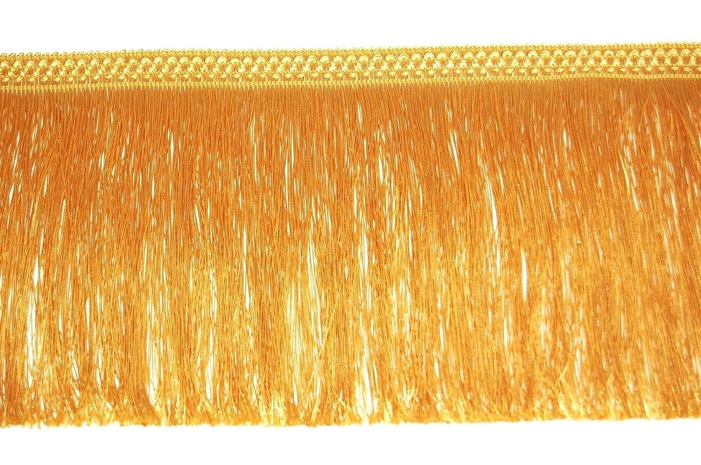 1metre FRINGE 20CM WIDE TASSEL TRIM LACE, AVAILABLE IN GOLD, SILVER, BLACK, WHITE (BLACK) MNJ