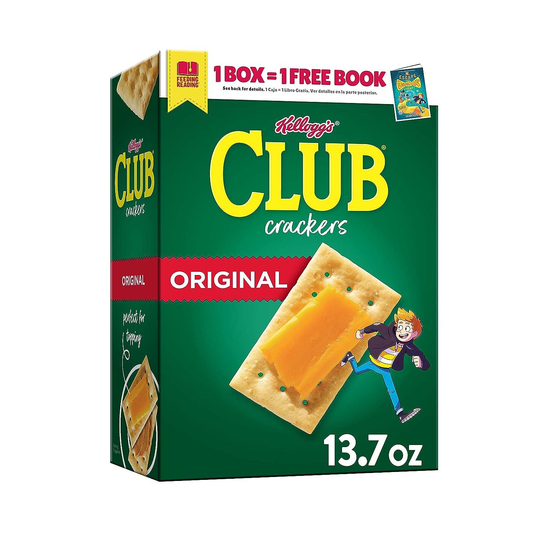 Kellogg's Club Crackers Original, Lunch Box Snacks, 13.7oz Box