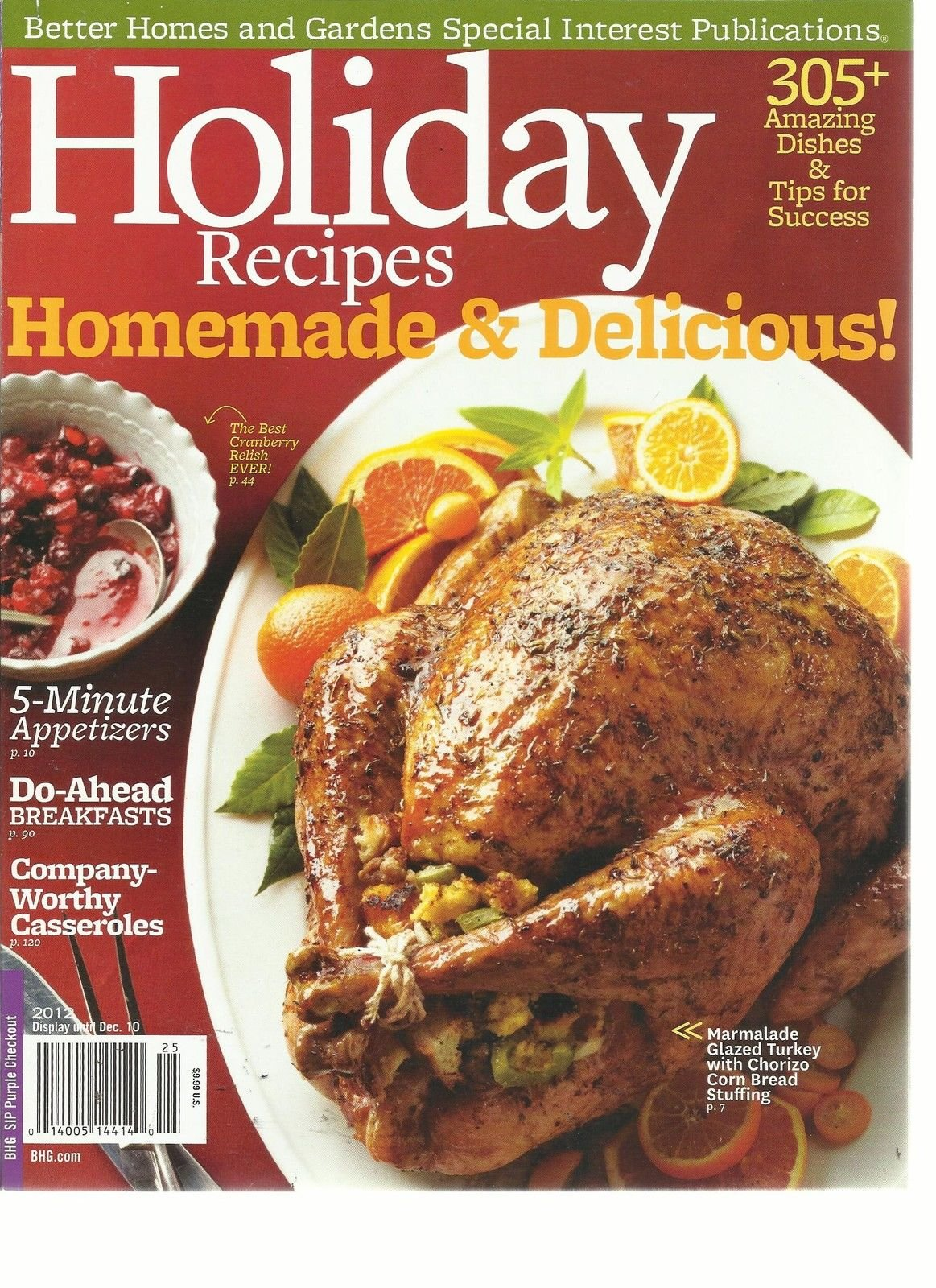 HOLIDAY RECIPES,(BETTER HOMES & GARDEN SPECIAL INTEREST) HOMEMADE & DELICIOUS!