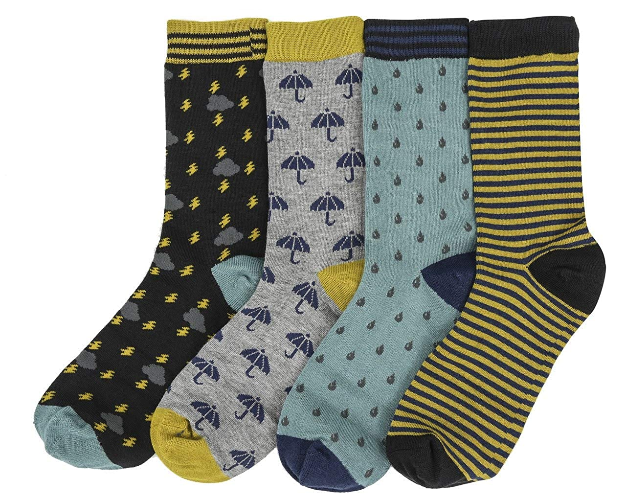 The Floral Gift Box by Thought4 pairs women/'s bamboo crew socks