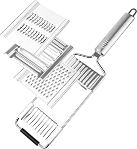 Miai Home Multi-Purpose Vegetable Slicer Stainless Steel Cheese Grater for Kitchen Hand-held Shredder Cutter Grater Slicer Adjustable Kitchen Tool