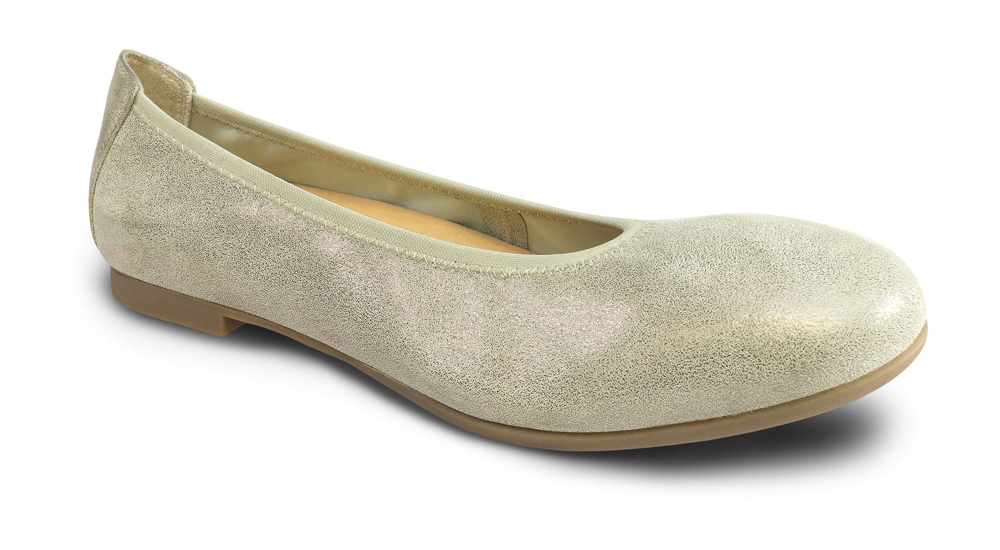 Revere Paris Women's Comfort Shoe With Removable Foot Bed: Gold 7 Medium (B) Slip On