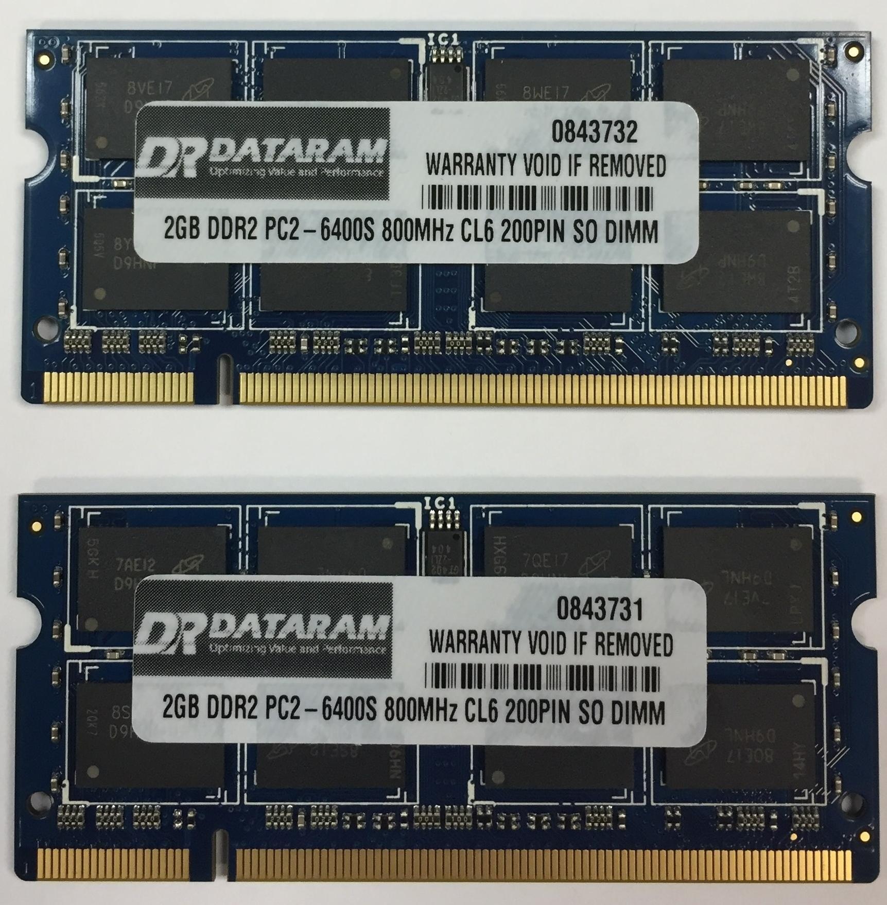 4GB (2X2GB) DDR2 Memoria para Toshiba Satellite L350-24L