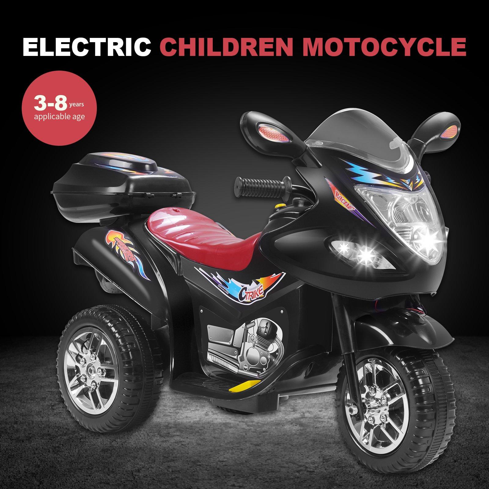 Uenjoy Murtisol Kids Ride on Motorcycle 6V Electric Motorcycle 2 Wheels Black by Uenjoy (Image #2)