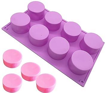 Molde redondo de silicona para jabón de chocolate, gelatina, magdalena y cupcakes: Amazon.es: Juguetes y juegos