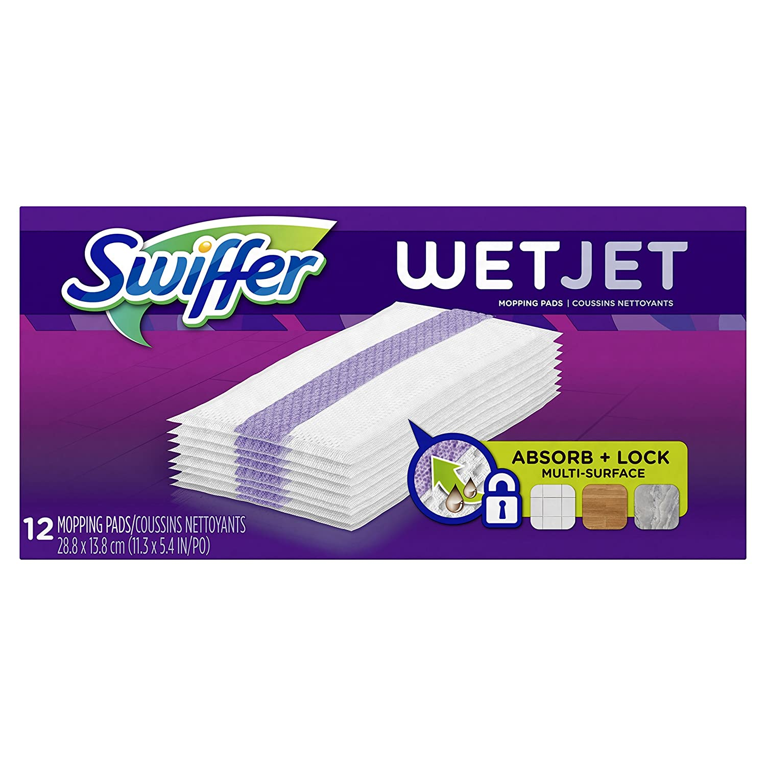 Swiffer WetJet Hardwood Floor Cleaner, Spray Mop Pad Refill, Multi Surface, 12 Count (Packaging May Vary) thomaswi
