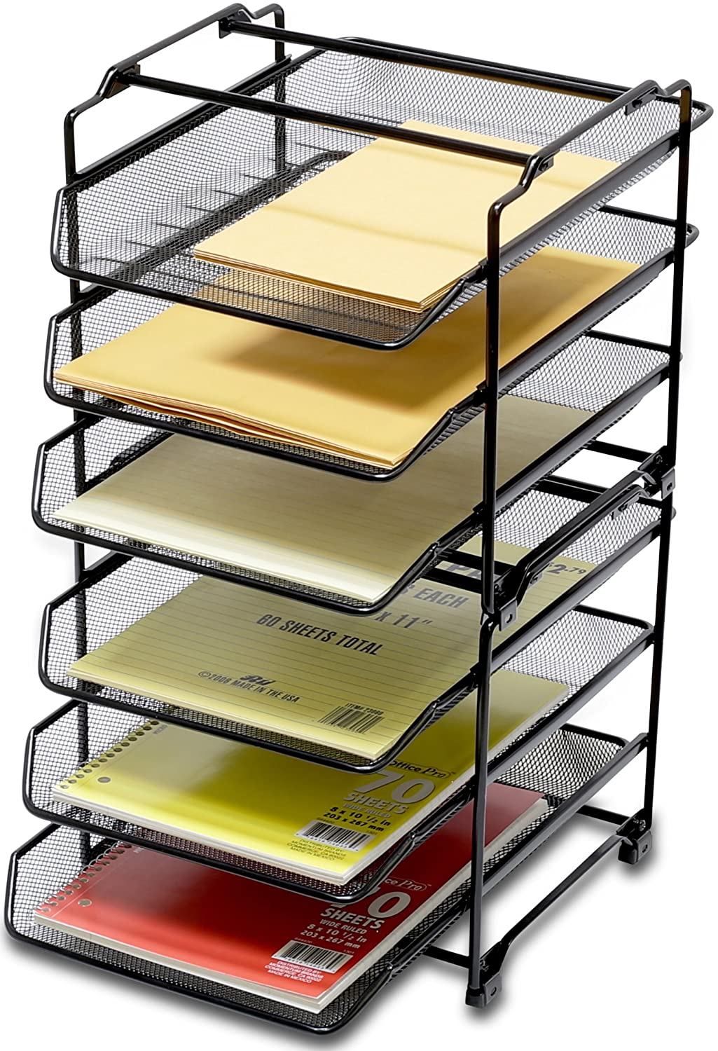 Perfect Amazon.com : DecoBros STACKABLE 3 Tier Desk Document Letter Tray Organizer,  Black : Office Products