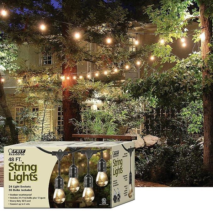amazon com feit 1179202 string outdoor lights garden outdoor rh amazon com