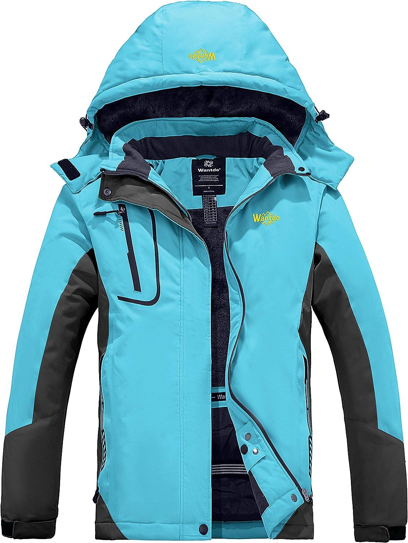 Wantdo Women's Mountain Waterproof Ski Jacket Windproof Rain Jacket Winter Warm Snow Coat