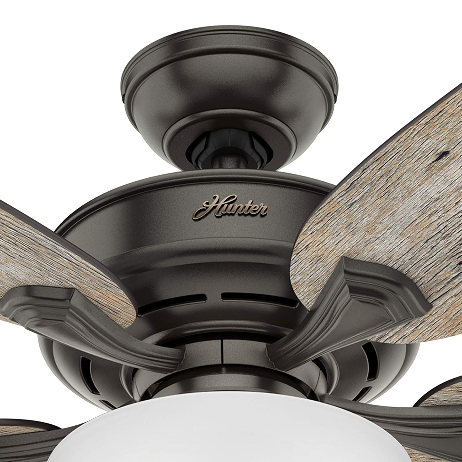 Hunter Fan 54 inch Casual Noble Bronze Indoor Ceiling Fan with Light Kit Renewed Noble Bronze