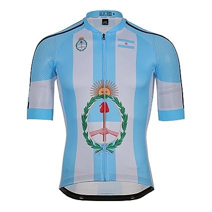 zm Argentina Maillot Ciclismo Mangas Cortas, Camiseta de Ciclistas, Ropa Ciclismo