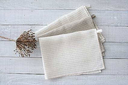 amazon com set of 3 linen tea towels 100 linen flax linen dish