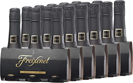 Freixenet Mini Cordon Negro Cava Brut Pack 3 botellas de 200 ml - 2 packs de 3u - total 1200ml