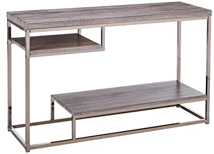 Miraculous Coaster Home Furnishings 2 Shelf Sofa Table Weathered Grey And Black Nickel Short Links Chair Design For Home Short Linksinfo