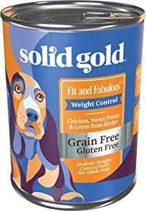 Solid Gold - Fit and Fabulous with Chicken - Grain Free Weight Control Wet Dog Food - 13.2-oz can 6 Count, Wet 13.2 oz can (6 Ct) (33814)