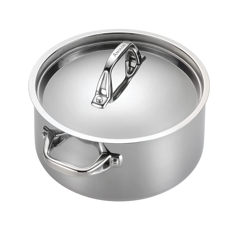Anolon 30822 12-Piece Stainless Steel Cookware Set,