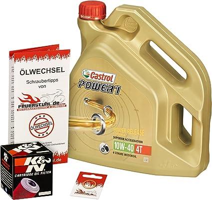 Castrol 10w 40 Öl K N Ölfilter Für Kawasaki Zr 7 S 99 04 Zr750f Ölwechselset Inkl Motoröl Filter Dichtring Auto