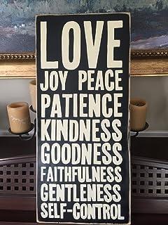 Amazon Com P Graham Dunn Fruit Of The Spirit Love Joy White 7 5 X