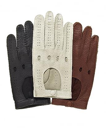 9431154005dd5 Fratelli Orsini Men's Handsewn Italian Peccary Driving Gloves at Amazon  Men's Clothing store: