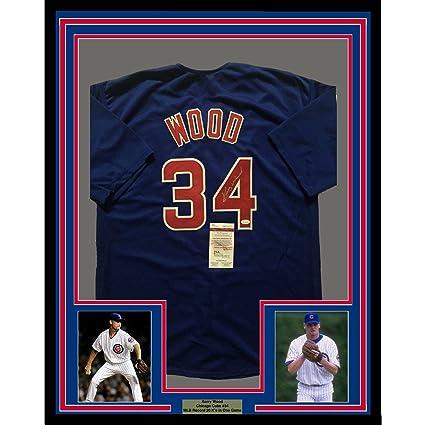 cfbab4b899c ... usa kerry wood autographed jersey framed 33x42 blue coa jsa certified  autographed mlb jerseys 0423d 53da3