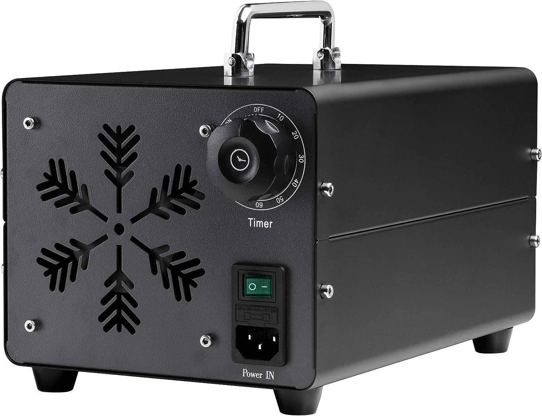 Generador de Ozono 10.000 mg/h Ozonizador y Purificador de Aire para Desinfectar Espacios Eliminando Virus, Hongos, Bacterias, Alérgenos y Malos Olores - Certificado CE - Nuevo Modelo 2021