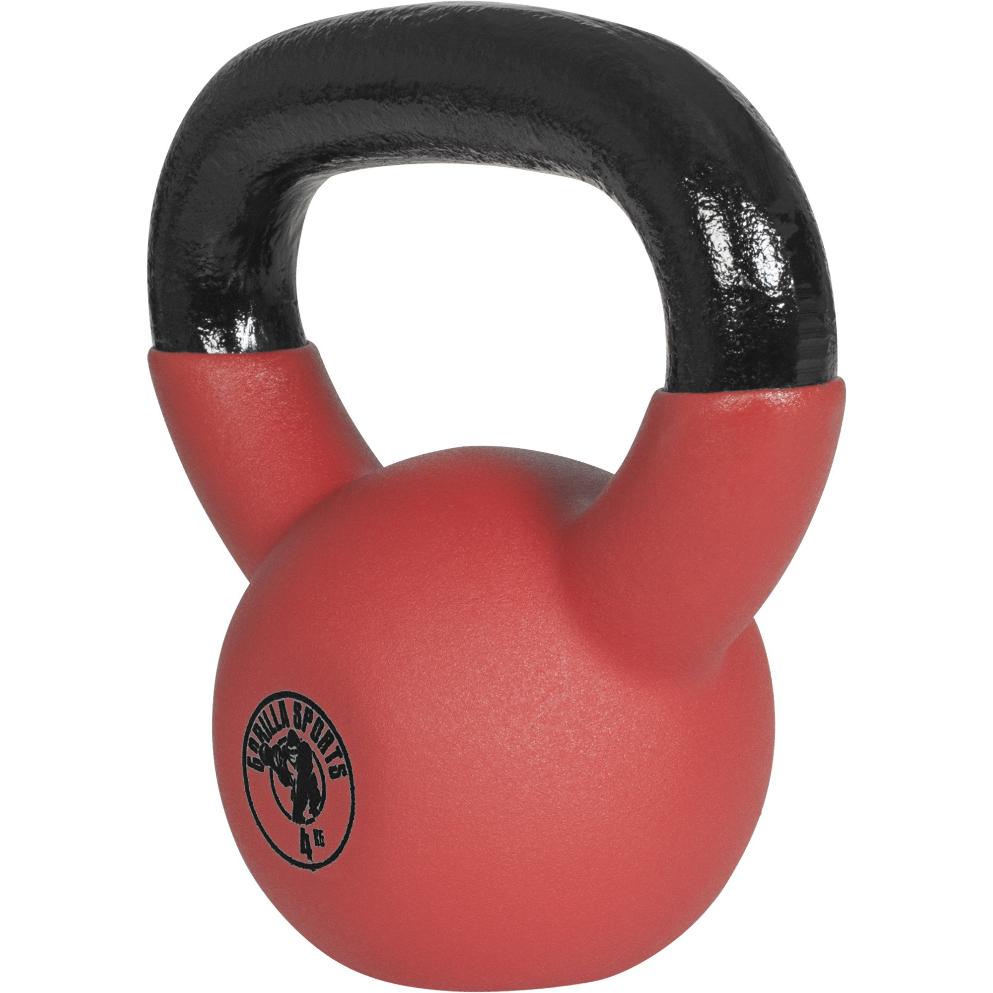 Gorilla Sports Red Rubber Kettlebell 9 lb - 70 lb (9)